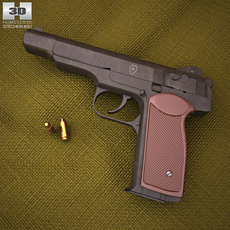 Stechkin automatic pistol 3D Model