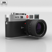 Leica M9 Steel Gray 3D Model