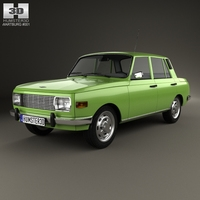 Wartburg 353 1966 3D Model