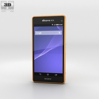 Sony Xperia A2 SO-04F Yellow 3D Model
