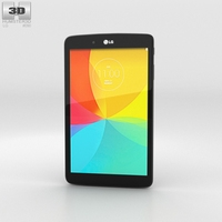 LG G Pad 8.0 Black 3D Model