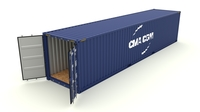 Shipping container CMA CGM 3D Model