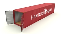 Shipping container Hamburg Sud 3D Model