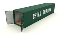 Shipping container China Shipping 3D Model
