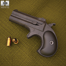 Remington 1866 Derringer 3D Model