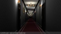 Fancy Hotel Corridor Ready to Render 3D Model