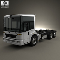 Mercedes-Benz Econic Chassis Truck 2009 3D Model