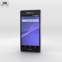 Sony Xperia A2 SO-04F Purple 3D Model