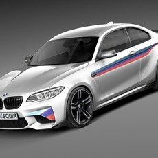 BMW M2 M-Perfomance Coupe 2016 3D Model