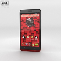Motorola Droid Ultra Red 3D Model