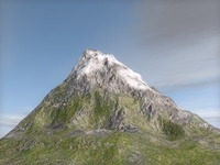 Terrain mountain 3D Model