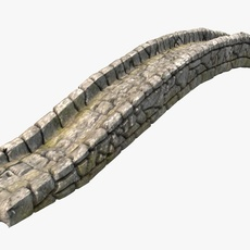Detailed stone bridge 3D Model