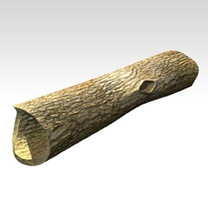 Hollow dead trunk 3D Model