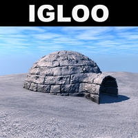 Low poly igloo 3D Model