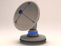 Radiotelescope Observatory Satellite Antenna 3D Model