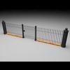 19 55 55 928 elegant fencing system low poly 1 4