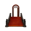 19 56 05 938 fancy historical building entrance low poly 3 4