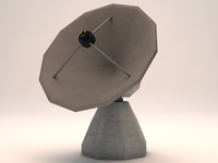 Satelitte Observatory Dish Low Poly 3D Model