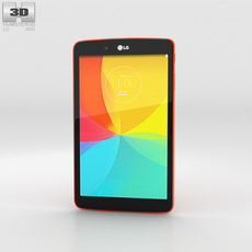 LG G Pad 8.0 Luminous Orange 3D Model