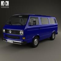 Volkswagen Transporter (T3) Passenger Van 1990 3D Model
