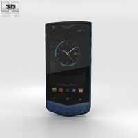 Vertu Constellation 2013 Pure Navy Alligator 3D Model