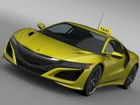 Acura NSX Taxi 2016 3D Model