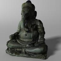 Hindu Statue - Ganesha 3D Model