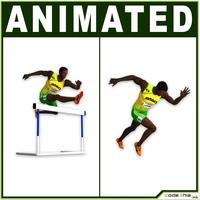 Black Runner CG 3D Model