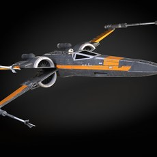 Star Wars X-Wing Fighter Black with Interior 3D Model