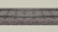 Train Track 3D Model