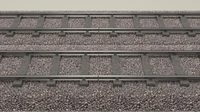 Train Track Double 3D Model