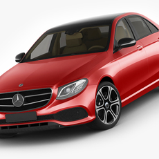 Mercedes E-class avantgarde sedan 2017 3D Model