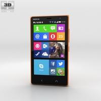 Nokia X2 Glossy Orange 3D Model