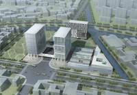 Exterior Office Building Scene 015 3D Model