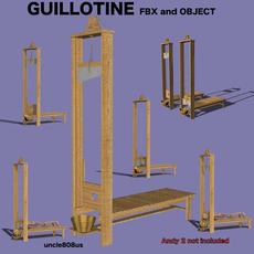 Guillotine Fbx Obj 3D Model