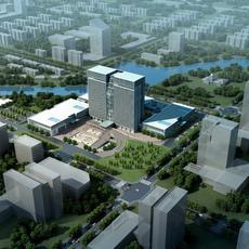 Exterior Office Building Scene 021 3D Model