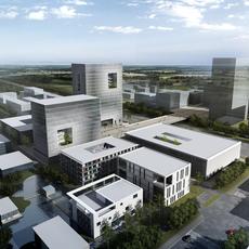 Exterior Office Building Scene 022 3D Model