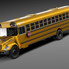 HQ LowPoly IC CE Series Schoolbus 2015 3D Model