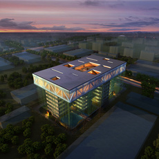 Exterior Office Building Scene 023 3D Model