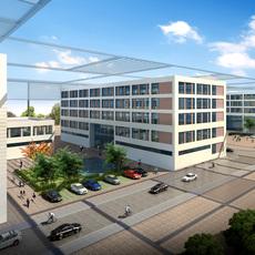 Exterior Office Building Scene 024 3D Model