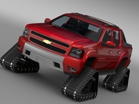Chevrolet Avalanche Z71 Crawler 3D Model