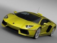Lamborghini Aventador Taxi 2016 3D Model
