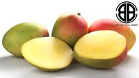 Photo Realistic Mangos 3D Model