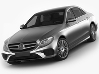 Mercedes E-class AMG package sedan 2017 3D Model