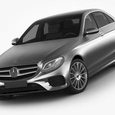 Mercedes E-class AMG package sedan 2017 3D Model