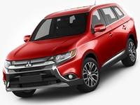Mitsubishi Outlander 2016 3D Model