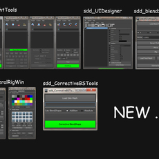 Maya sdd_RiggingTools Supplementary Kit for Maya 1.3.5 (maya plugin)