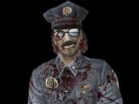 Police Man Zombie 3D Model