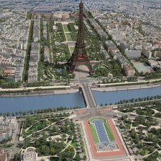 Paris City Eiffel Tower 3D Model
