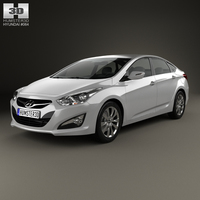 Hyundai i40 sedan (EU) 2012 3D Model
